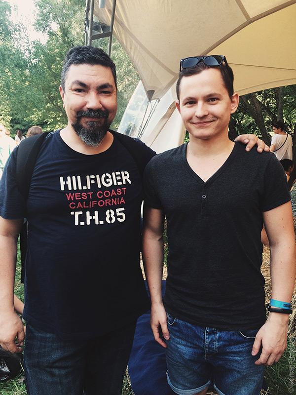 Эркен Кагаров и Роман Шавня