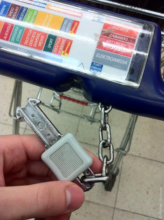 Тележка из гипермаркета в Белостоке