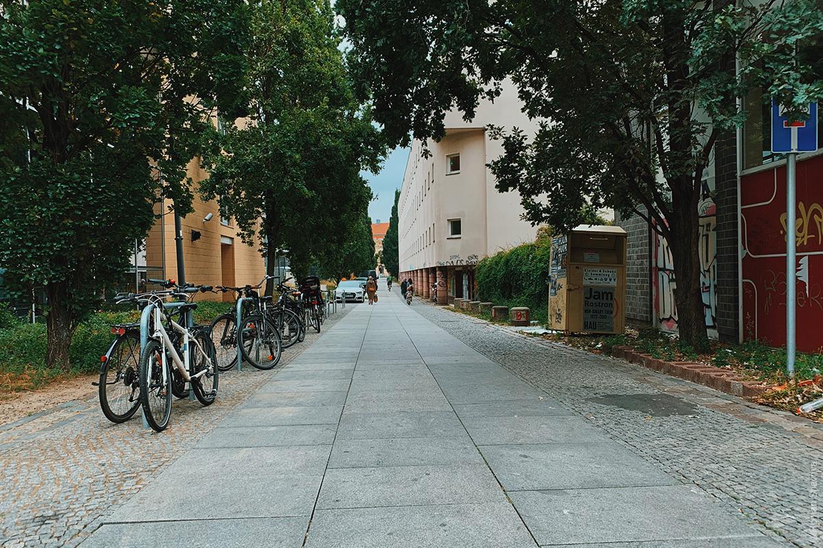 Typical lane in Berlin