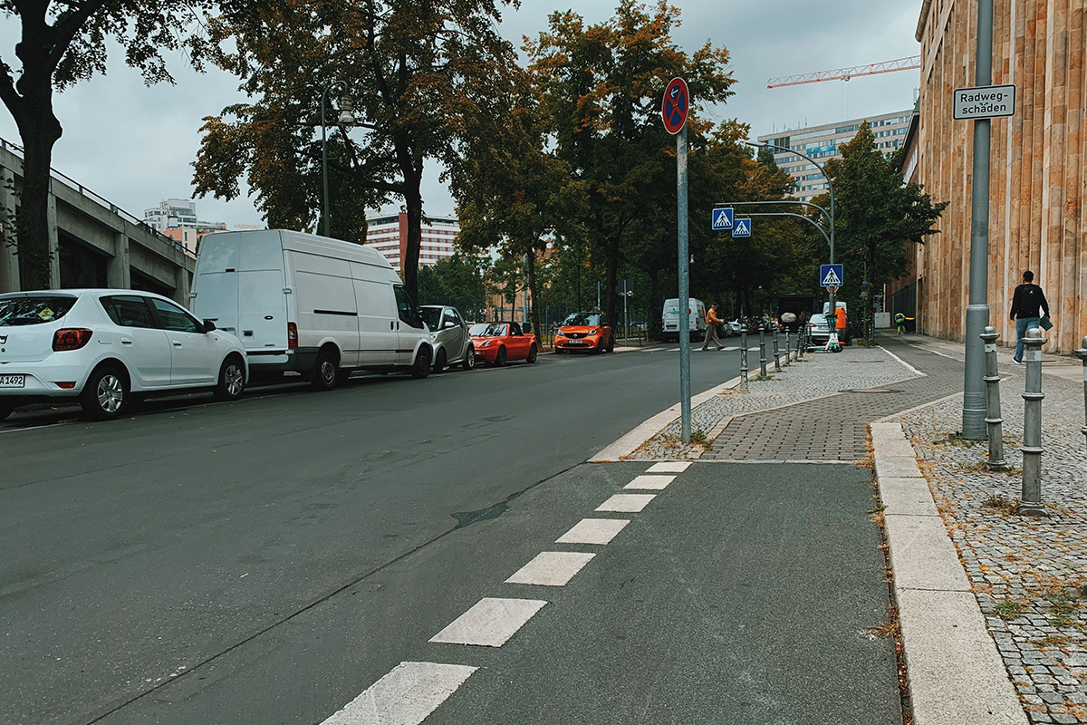 Bicycle path in Berlin