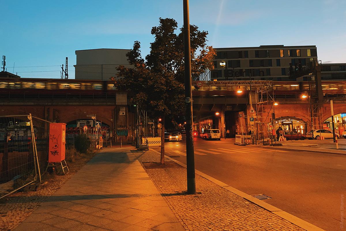 Berlin metro station outside