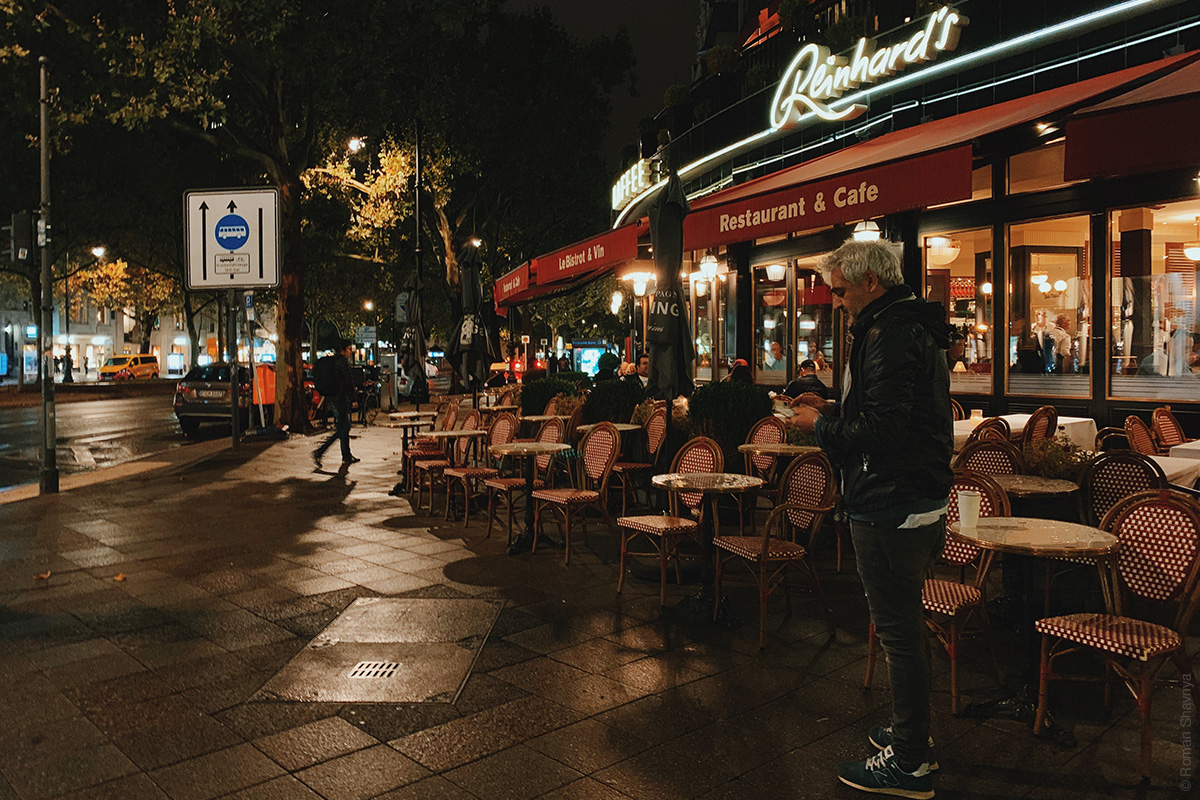 German rules with restaurants on the street