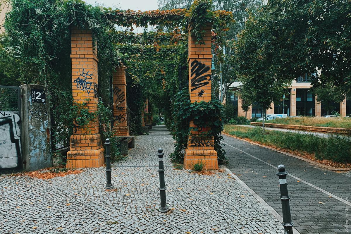 Typical backyard in Berlin