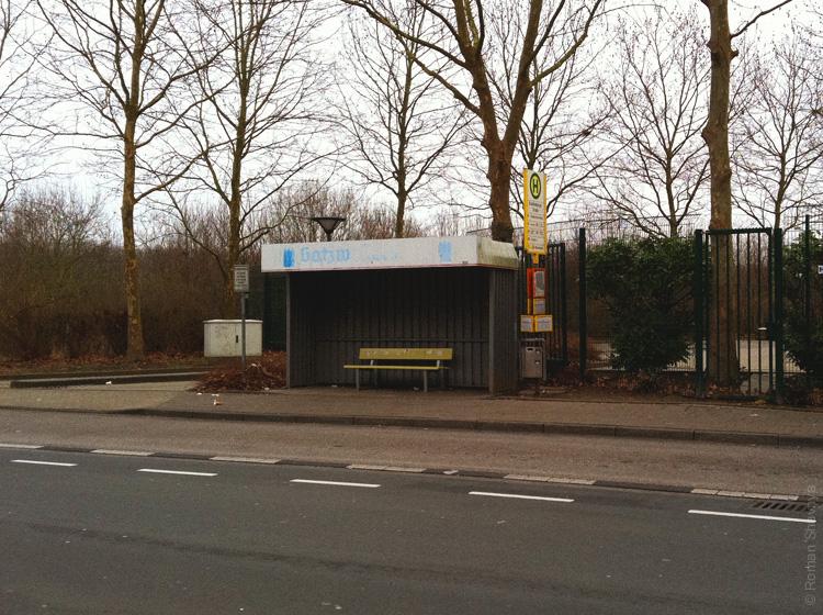 Автобусная остановка в Дюссельдорфе