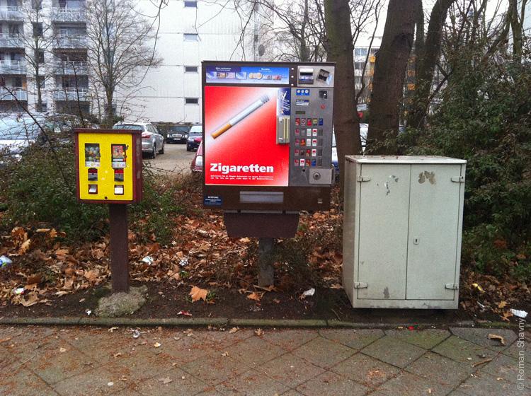 Автомат по продаже сигарет в Дюссельдорфе