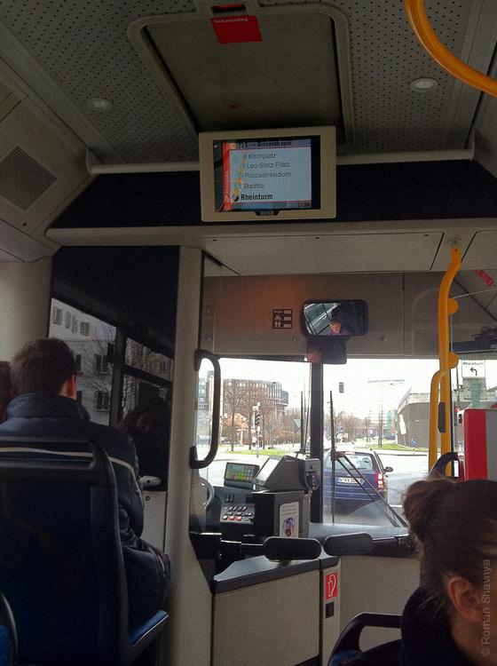 Автобус в Дюссельдорфе