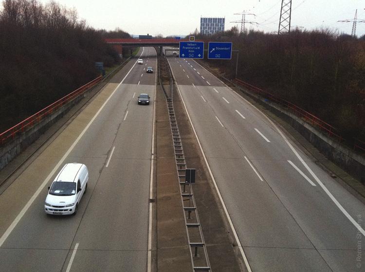 Автобан в Дюссельдорфе