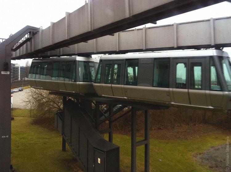 Монорельс (Sky Train) в Дюссельдорфе