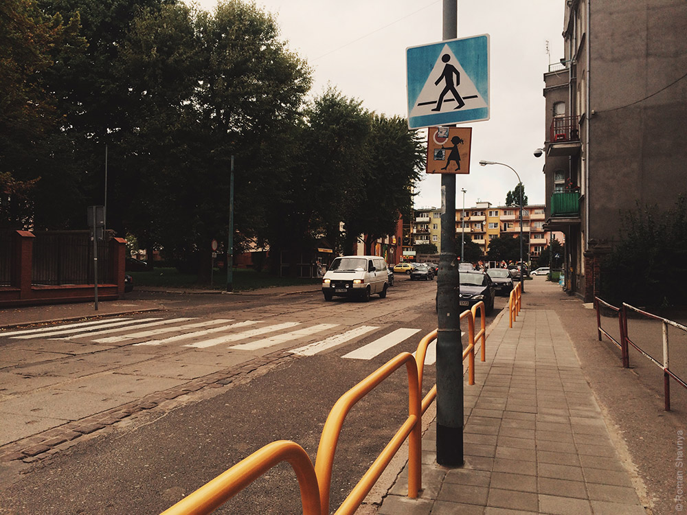 Пешеходный переход в Гданьске