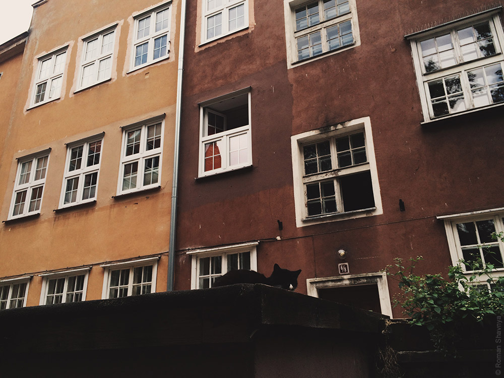 Окно с форточками в Гданьске