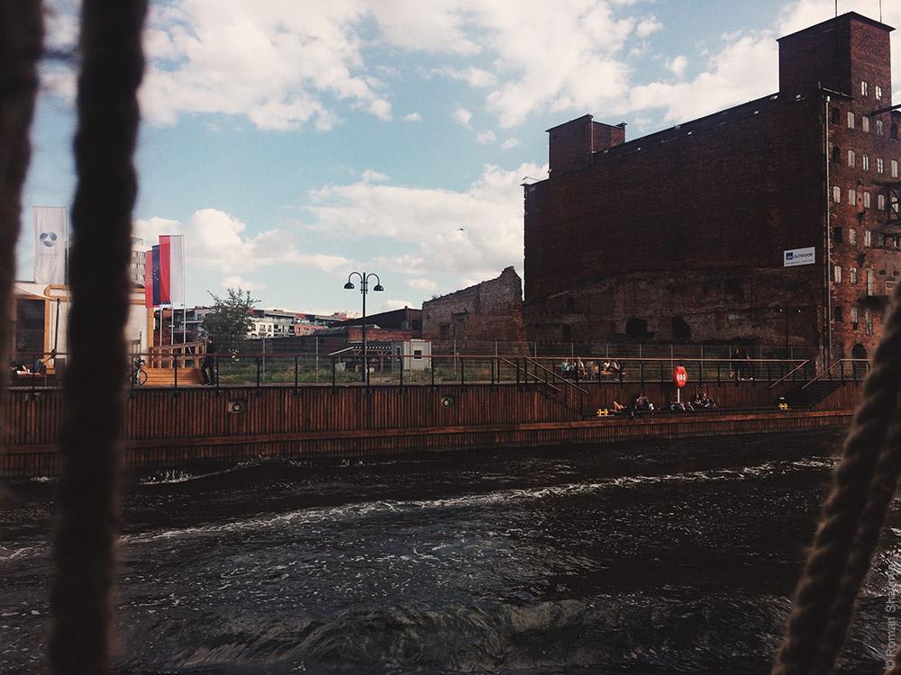 Отдых вдоль каналов в Гданьске