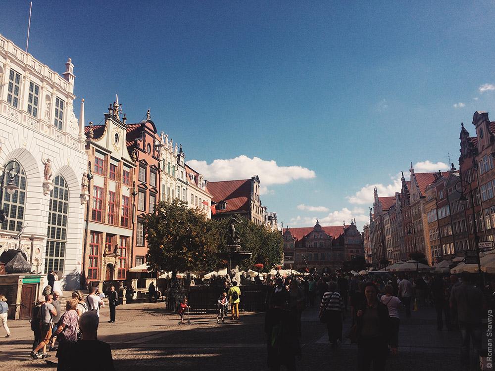 Центральная улица в Гданьске