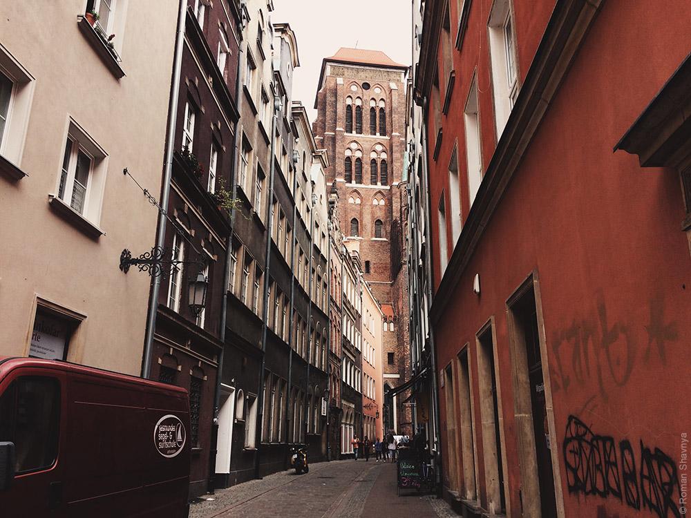 Переулок в Гданьске