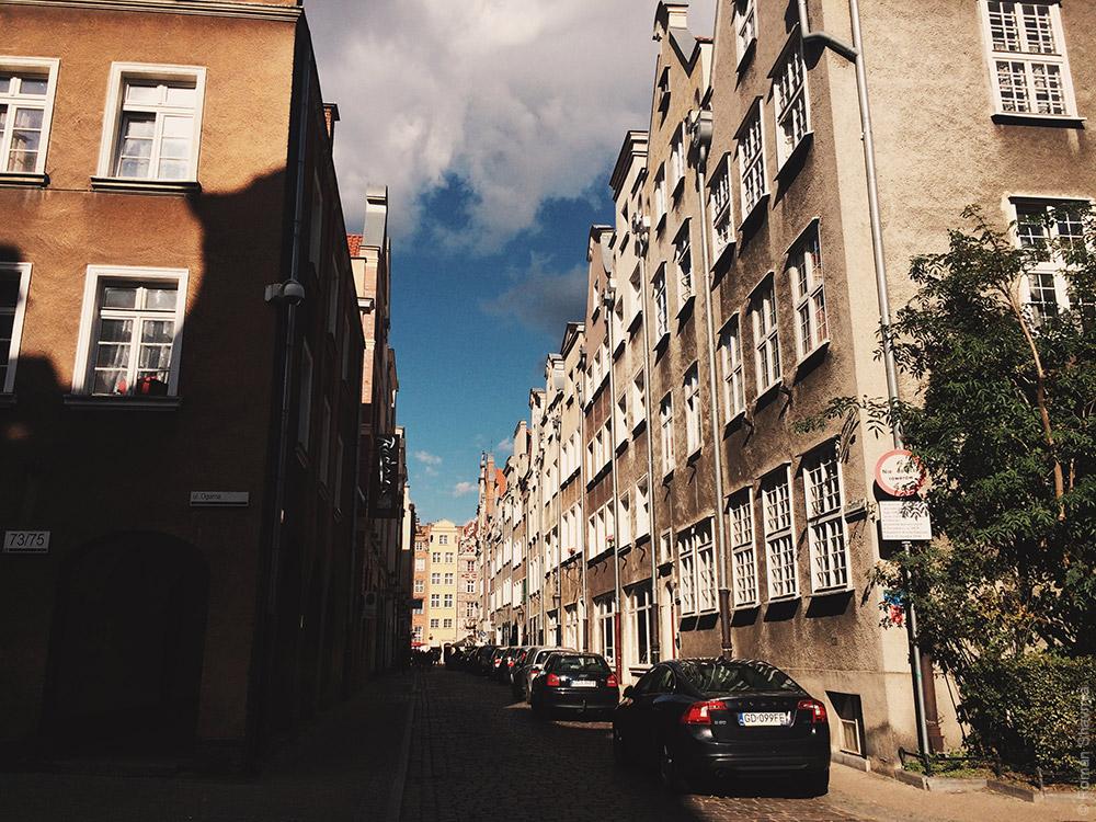 Красивый переулок в Гданьске