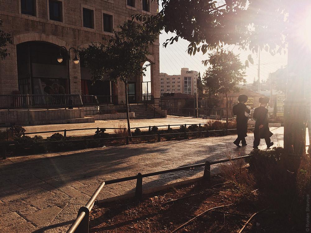 Улица с евреями в Иерусалиме