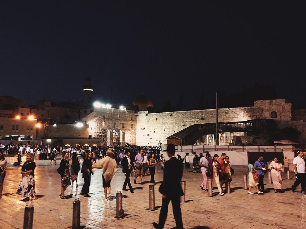 Шаббат у стены плача в Иерусалиме