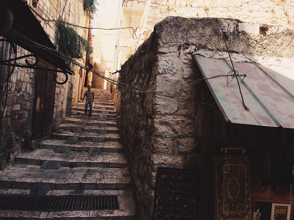 Улица в старом городе в Иерусалиме