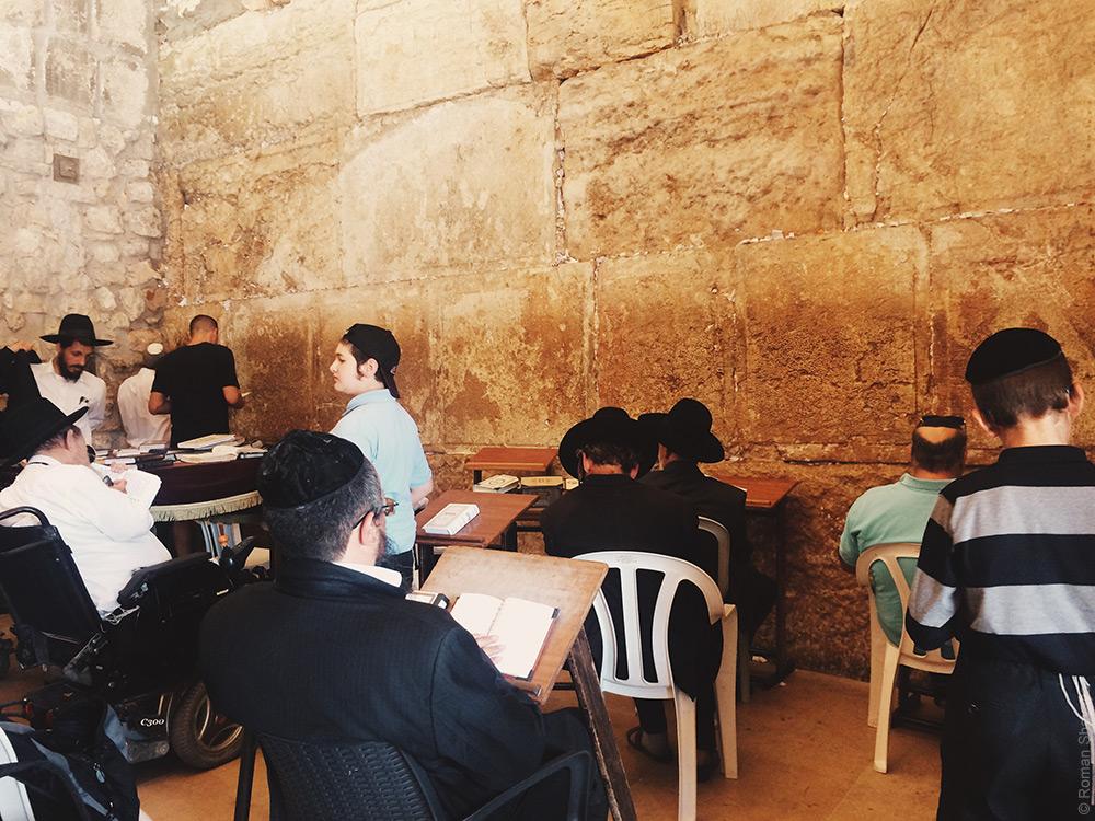 Стене плача в Иерусалиме