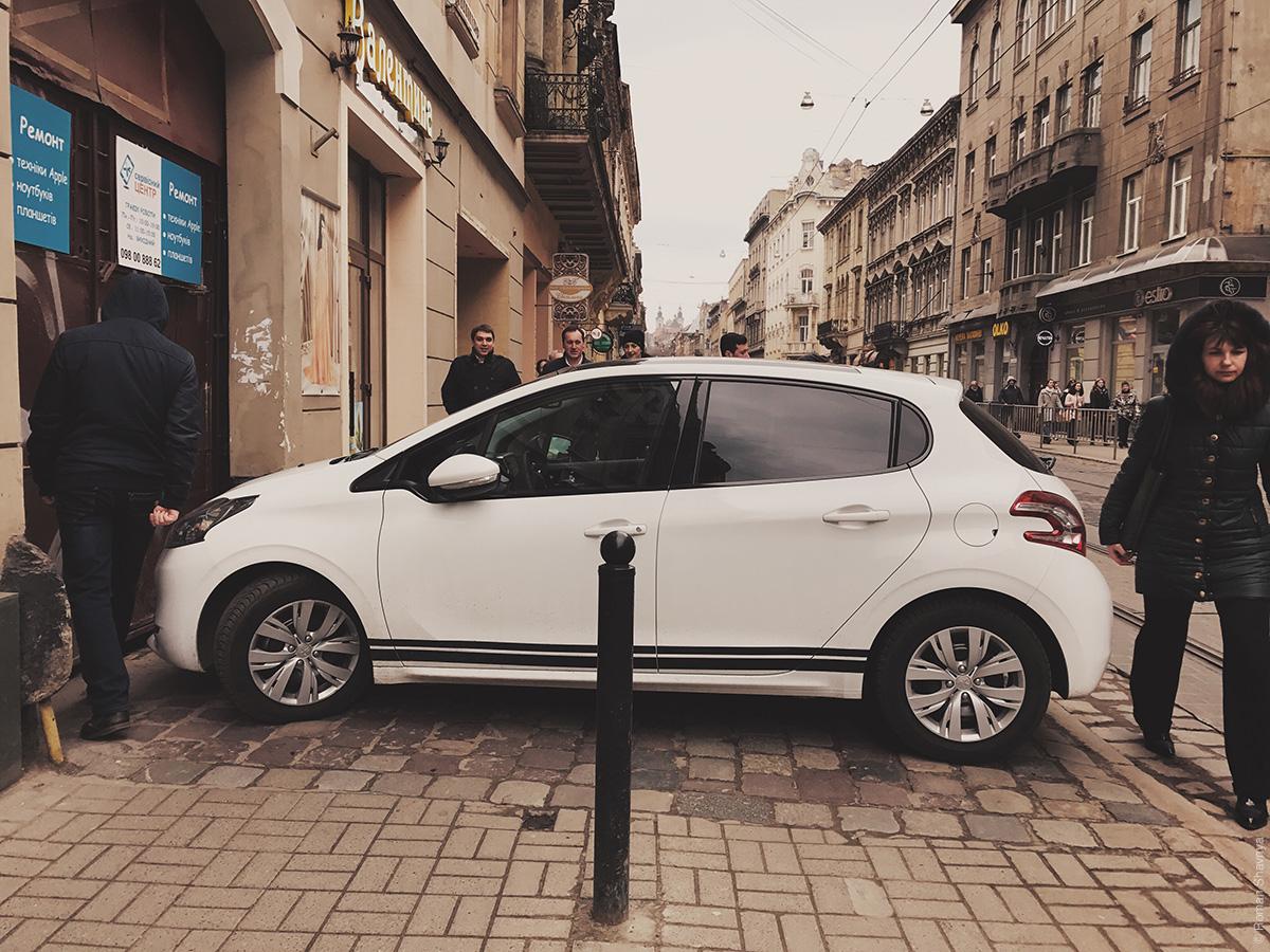 Парковка во Львове