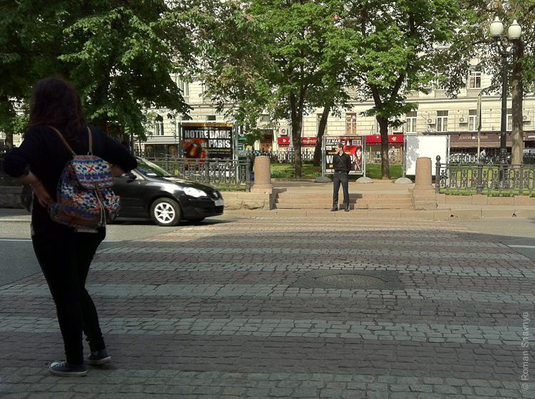 Москва похожа на Париж. Пешеходный переход