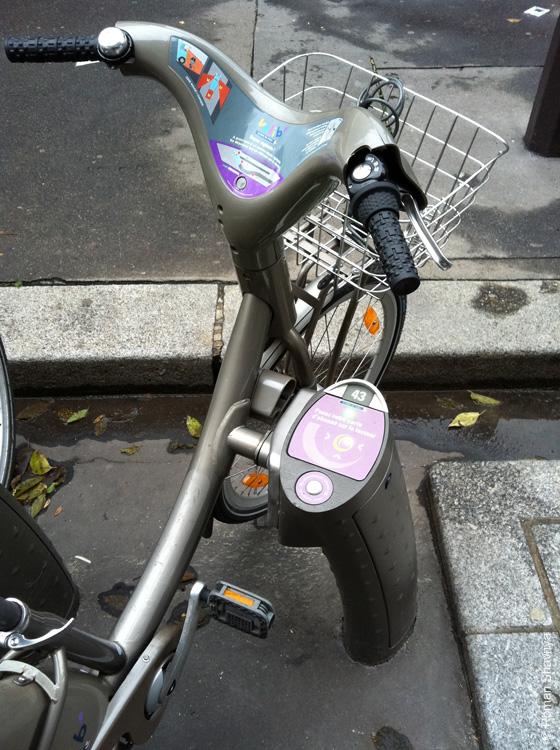 Велосипеды с автоматической выдачей в прокат в Париже