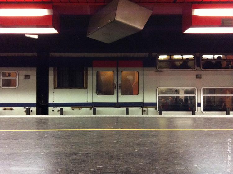 Двухэтажный поезд. Парижский метрополитен