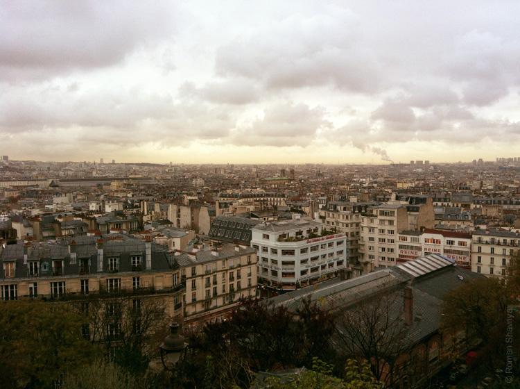 Вид с Монмартра на Париж