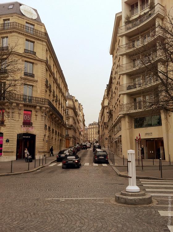 Обычная улица в Париже