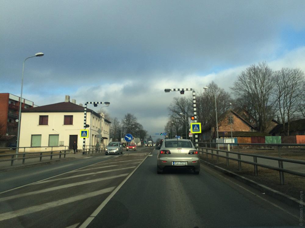 Подсветка пешеходного перехода в Риге