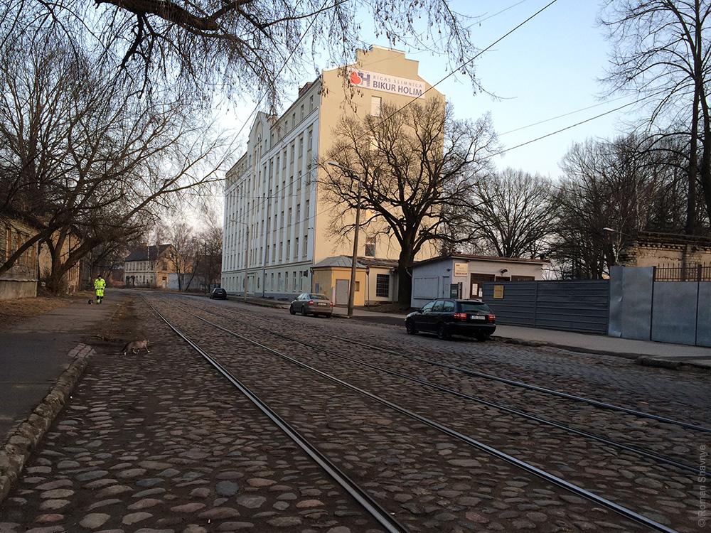 Трамвайные пути в Риге
