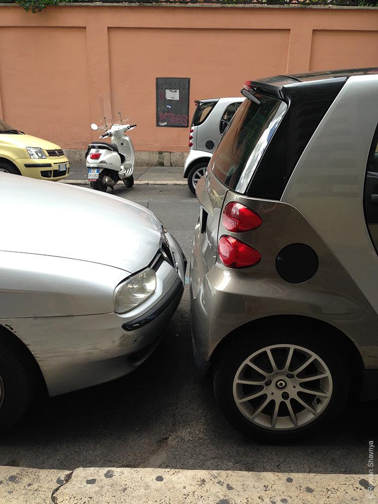 Как паркуются в Риме