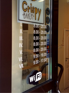 Таблица расписание работы магазина в Вильнюсе