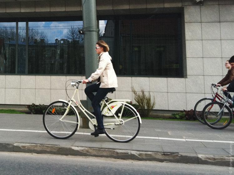Велосипедные дорожки в Вильнюсе