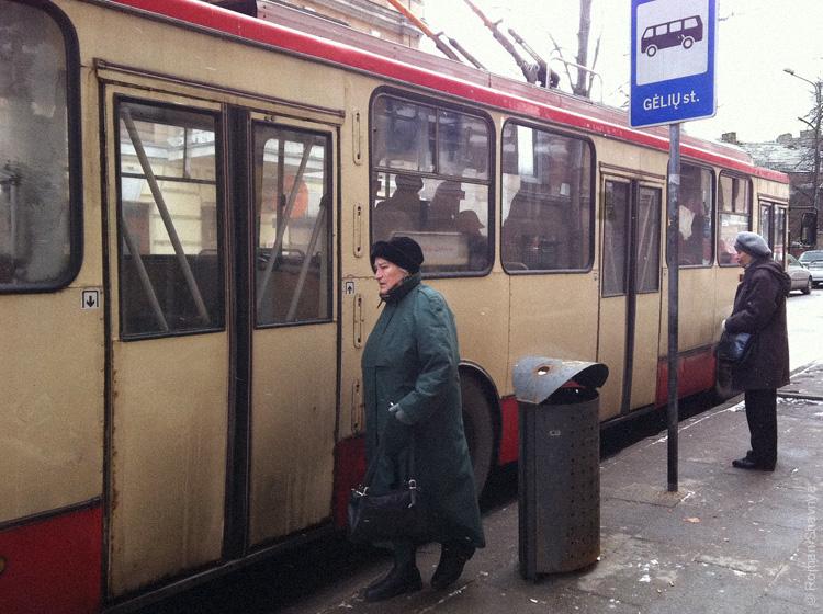 Старые троллейбусы в Вильнюсе