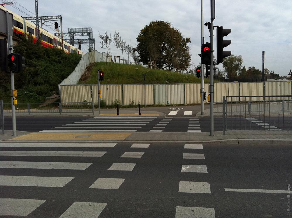 Светофор для велосипедистов в Варшаве