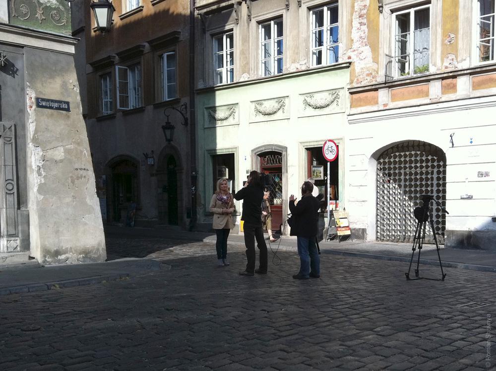 Репортаж из Старого города Варшавы